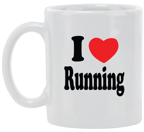 I Heart Running Ceramic Mug