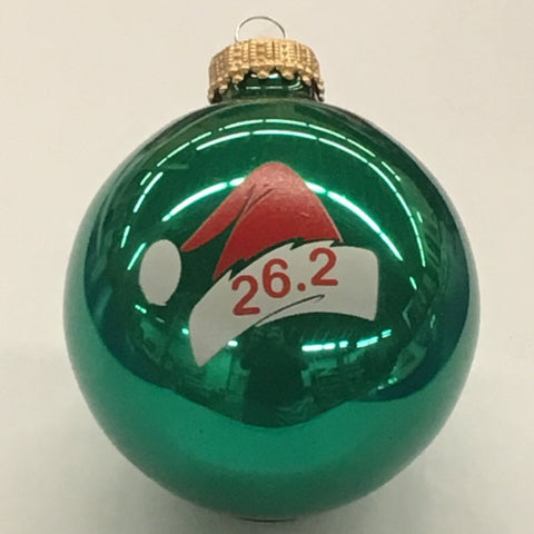 Christmas Ornament 26.2 Santa Cap - Green