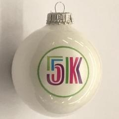 Christmas Ornament 5K Joy - White
