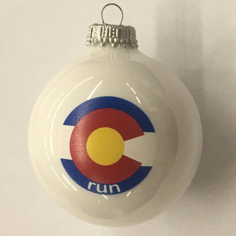 Colorado Run State Flag Christmas Ornament