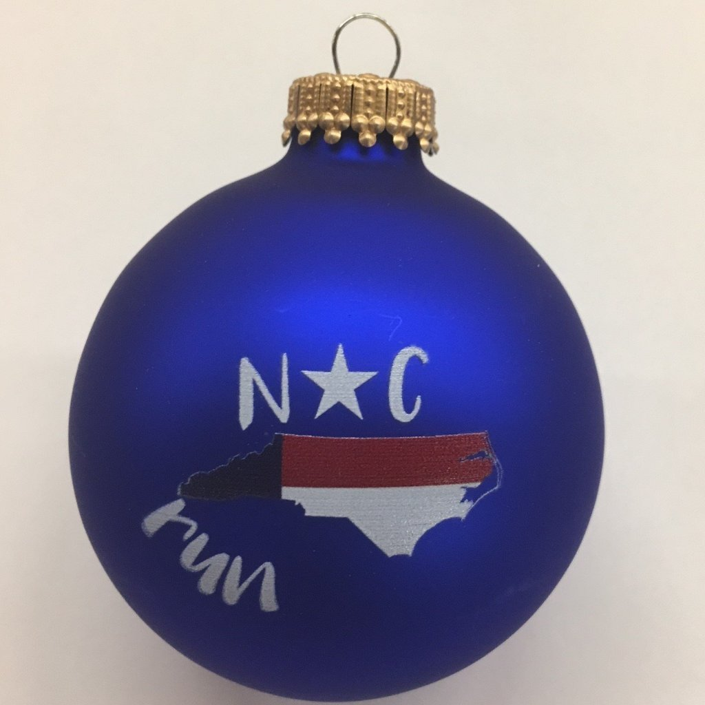 North Carolina Flag Run Ornament