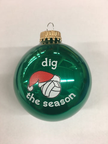 Christmas Ornament Dig the Season - Green
