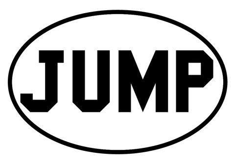 Jump Oval Decal