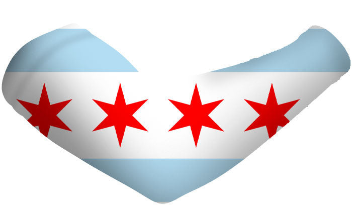 Chicago City Flag Arm Sleeves