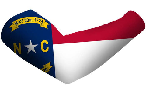 North Carolina State Flag Arm Sleeves