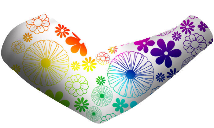 Rainbow Flowers Arm Sleeves