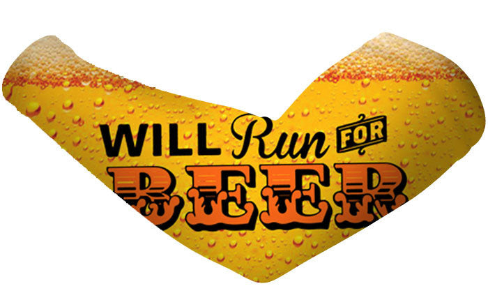 Will Run For Beer Arm Sleeves