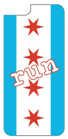 Chicago Run with City Flag Background iPhone 6/6S Case