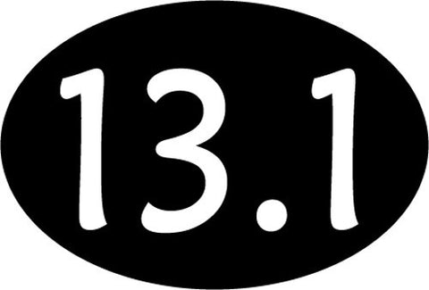 13.1 Oval Decal - Black
