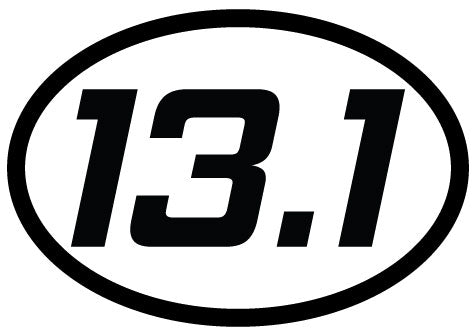 13.1 Oval Decal (C) - 11 Colors Available