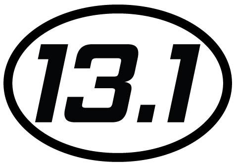 13.1 oval decal - white