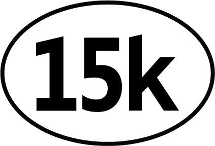 15k Oval Decal