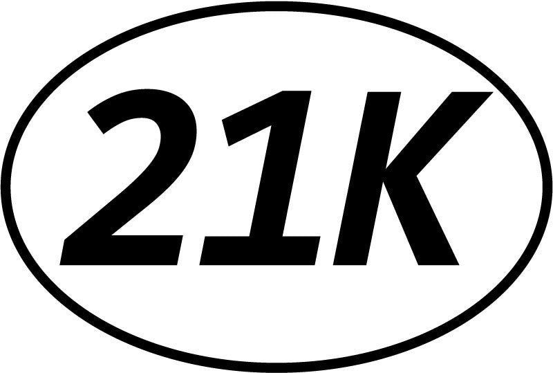 21k Oval Decal