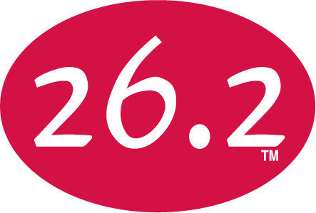 26.2 Oval Decal - Red