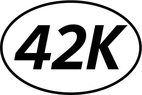 42k Oval Decal