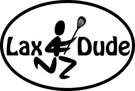 Lax Dude Oval Decal
