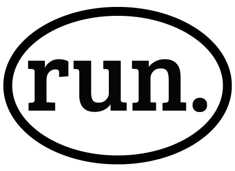 run. Colored Oval Decal (C)