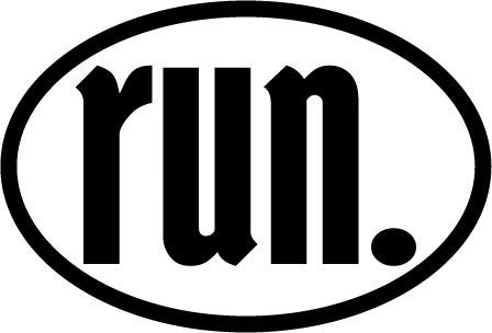 run. Colored Oval Decal