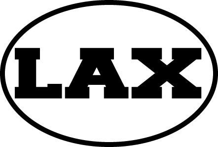 LAX Colored Oval Decal