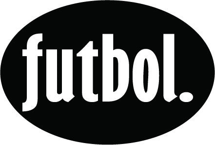 futbol. Colored Oval Decal