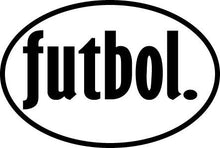 Load image into Gallery viewer, futbol. Colored Oval Decal