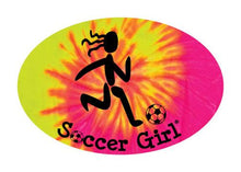 Load image into Gallery viewer, Soccer Girl Colored Oval Decal