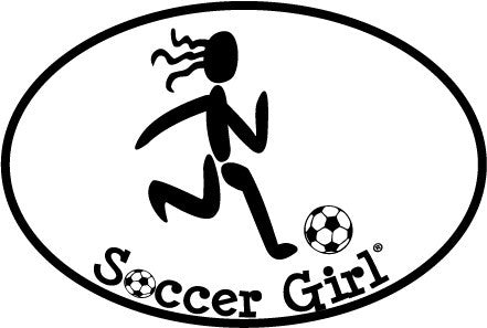Soccer Girl Colored Oval Decal
