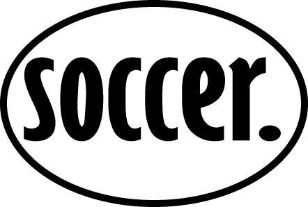 soccer. Oval Decal