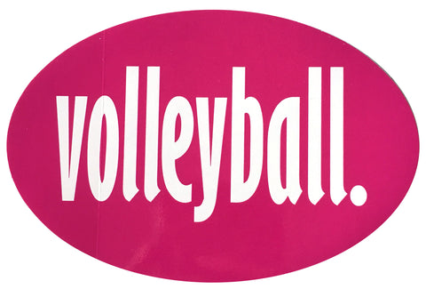 Volleyball Oval Magnet - Pink