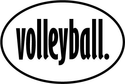Volleyball Oval Magnet