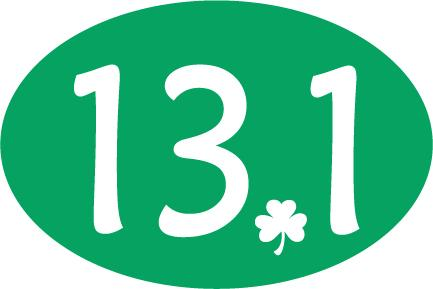 13.1 Oval Decal - Shamrock Dot - Dark Green