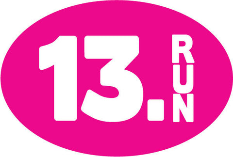 13.Run Oval Magnet - Pink