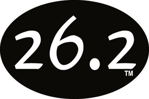 26.2 Oval Decal - Black
