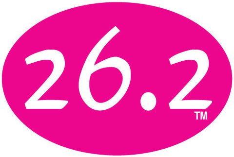 26.2 Oval Decal - Pink