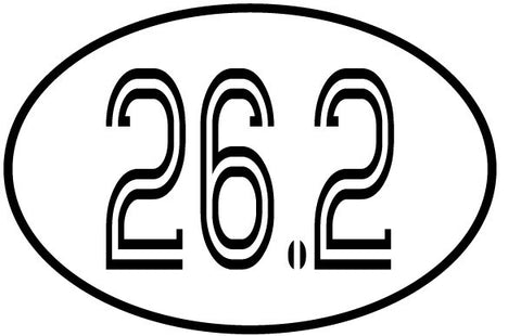 26.2 Oval Magnet - Retro