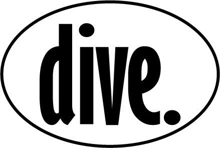 Dive. Oval Decal