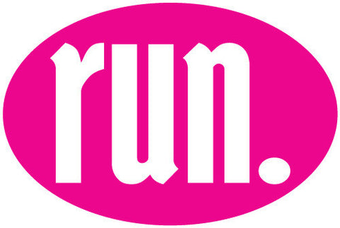 Run Oval Magnet - Pink