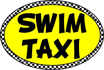 Swim Taxi Oval Decal