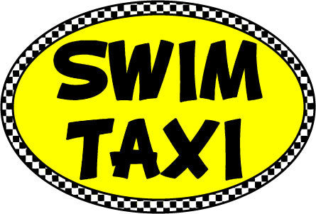 Swim Taxi Oval Magnet