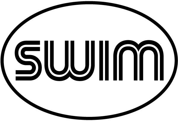 swim. Retro Oval Magnet
