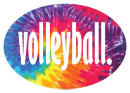 Volleyball Oval Magnet - Tie-Dye