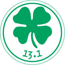 13.1 Clover Round Decal - Green