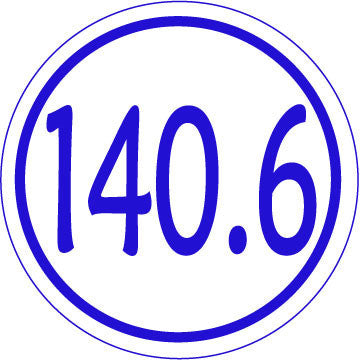 140.6 Round Decal - Blue