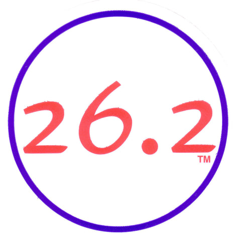 26.2 Round Decal - Red/Blue