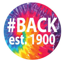 #BACK est. 1900 Round Decal - Tie-Dye