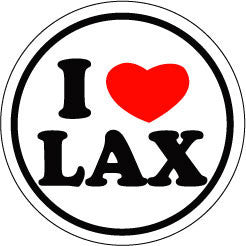 I Heart LAX Round Decal