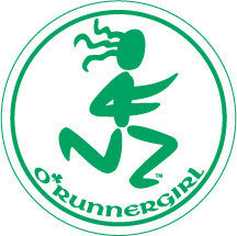 O'Runner Girl Green Round Decal