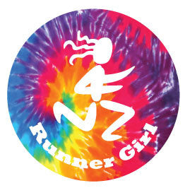 Runner Girl Round Decal - Tie-Dye