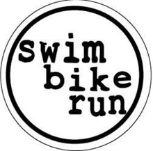 Load image into Gallery viewer, Swim Bike Run Colored Round Decal