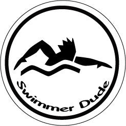 Swimmer Dude Colored Round Decal